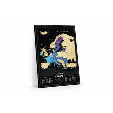 MAPA ZDRAPKA EUROPA Travel Map™ Black Europe