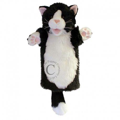 Kot czarno-biały długa pacynka