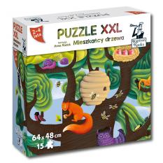 Mieszkańcy drzewa. Puzzle XXL 15 elementów