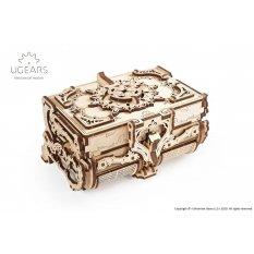Antyczna szkatułka Model mechaniczny do składania UGEARS