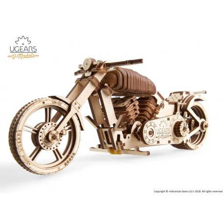 Motocykl VM-02 Model mechaniczny do składania UGEARS