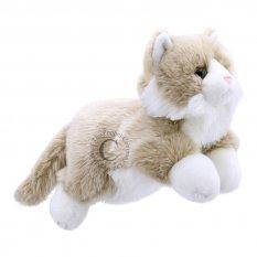 Kot beżowo-biały cały pacynka The Puppet Company